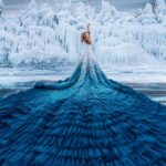 """Baikal Fairytale"": superb fashion photography series on the frozen waters of Lake Baikal by Kristina Makeeva"