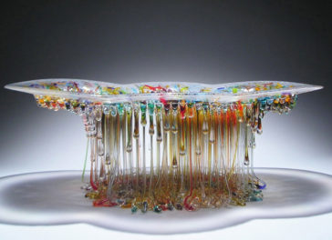 Amazing jellyfish dripping glass centerpieces by Daniela Forti