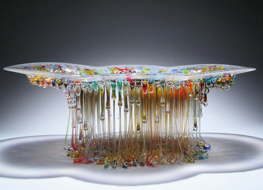 Amazingly Sculptural Jellyfish Dripping Glass Centerpieces By Daniela Forti 1