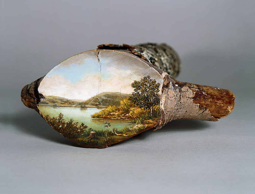 Bucolic Landscapes Painted On The Surfaces Of Cut Tree Trunks By Alison Moritsugu 8