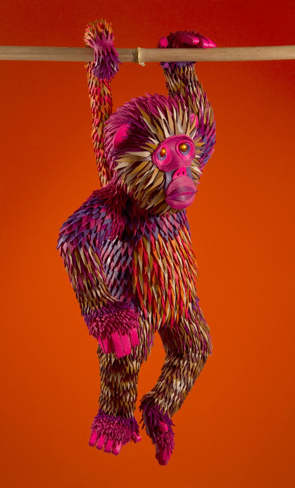 Colorful Sculptures Of Wild Animals Made From Leftover Pieces Of Leather By Lucie Thomas And Thibault Zimmermann 1