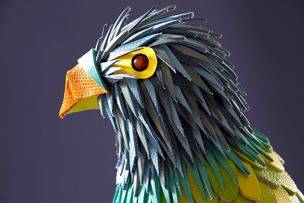 Colorful Sculptures Of Wild Animals Made From Leftover Pieces Of Leather By Lucie Thomas And Thibault Zimmermann 6