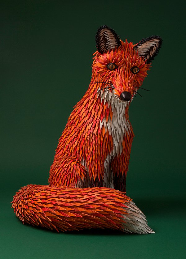 Colorful Sculptures Of Wild Animals Made From Leftover Pieces Of Leather By Lucie Thomas And Thibault Zimmermann 9