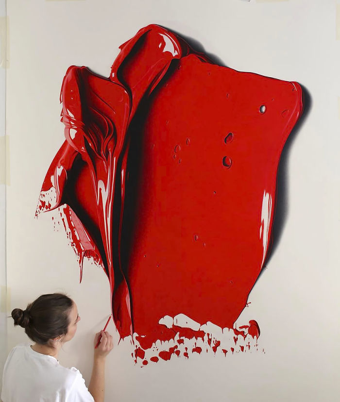 Complimentary Colors Amazingly Hyper Realistic Paint Blob Pencil Drawings By Cj Hendry 2