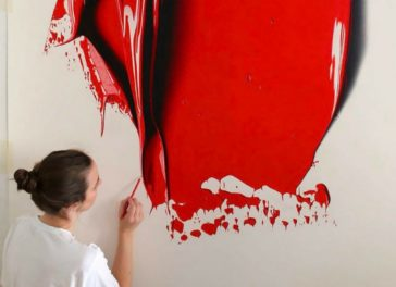 """""""Complimentary Colors"""": amazingly hyper-realistic paint blob pencil drawings by CJ Hendry"""