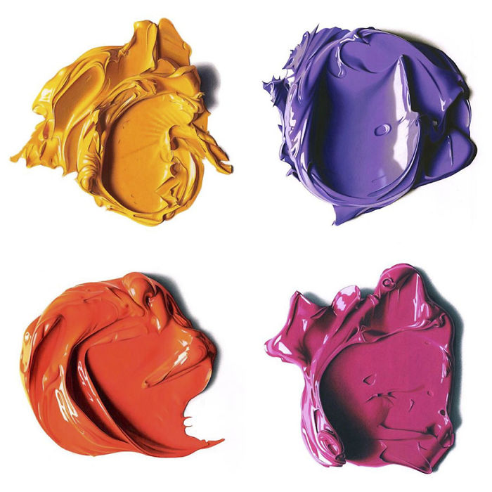 Complimentary Colors Amazingly Hyper Realistic Paint Blob Pencil Drawings By Cj Hendry 6