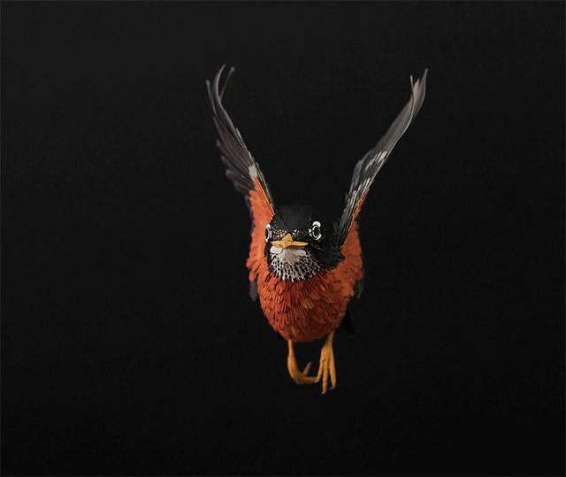 Extraordinary Bird Paper Cut Sculptures By Colombian Artist And Designer Diana Beltran Herrera 10