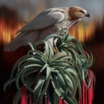 Fauna and flora elements blended into surrealist paintings by Josie Morway