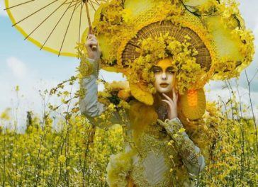Wearable artworks full of fantasy and glamour designed by Rachel Sigmon