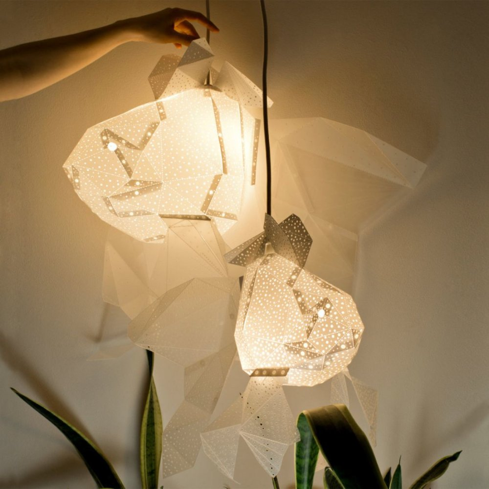 Stunning Pendant Lamps Inspired By Origami And Marine Animals By Vasililights 10