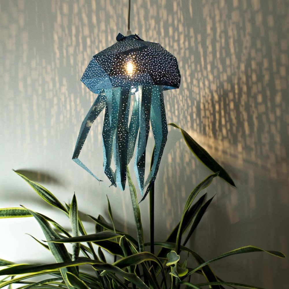 Stunning Pendant Lamps Inspired By Origami And Marine Animals By Vasililights 2