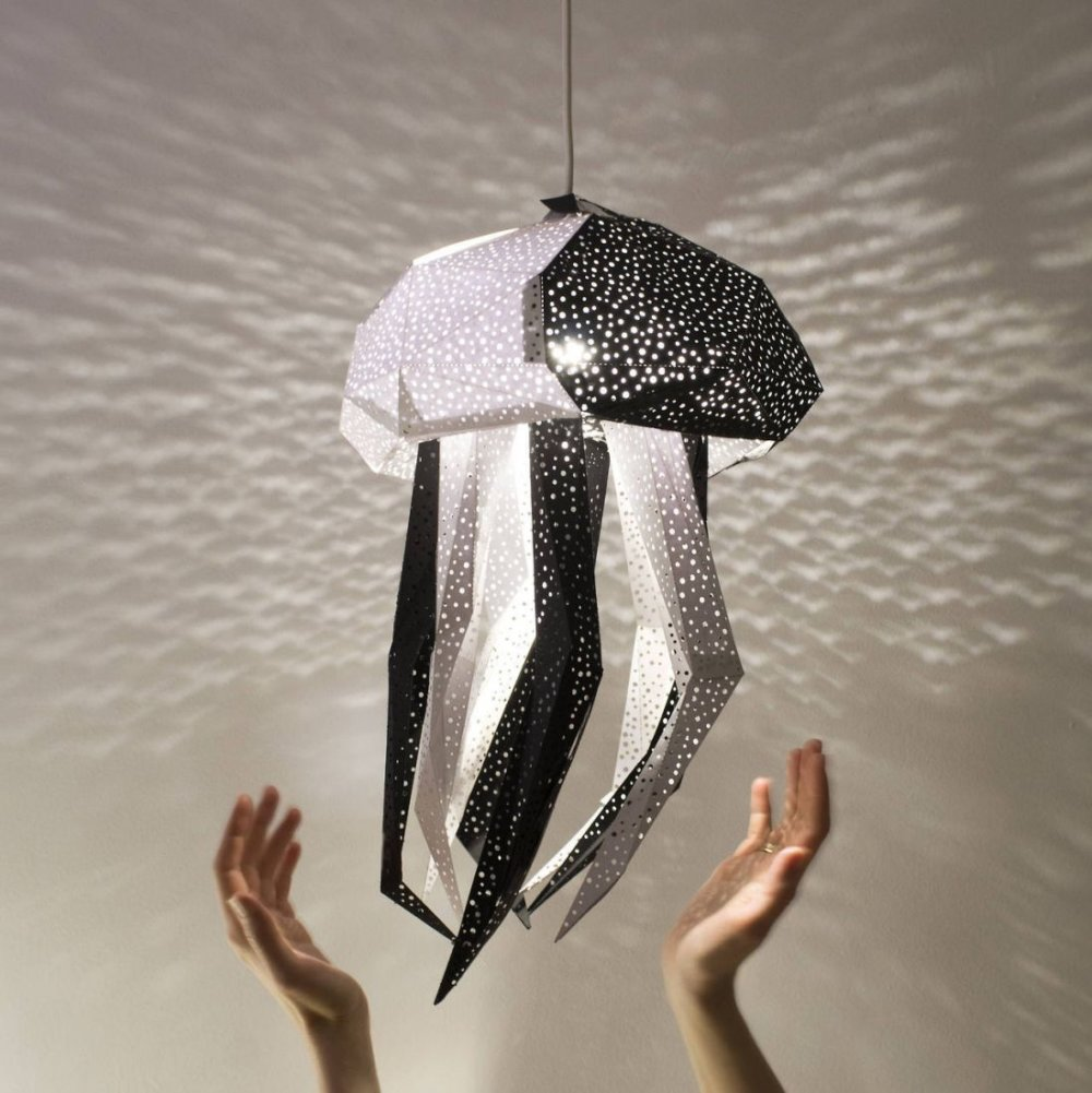 Stunning Pendant Lamps Inspired By Origami And Marine Animals By Vasililights 3