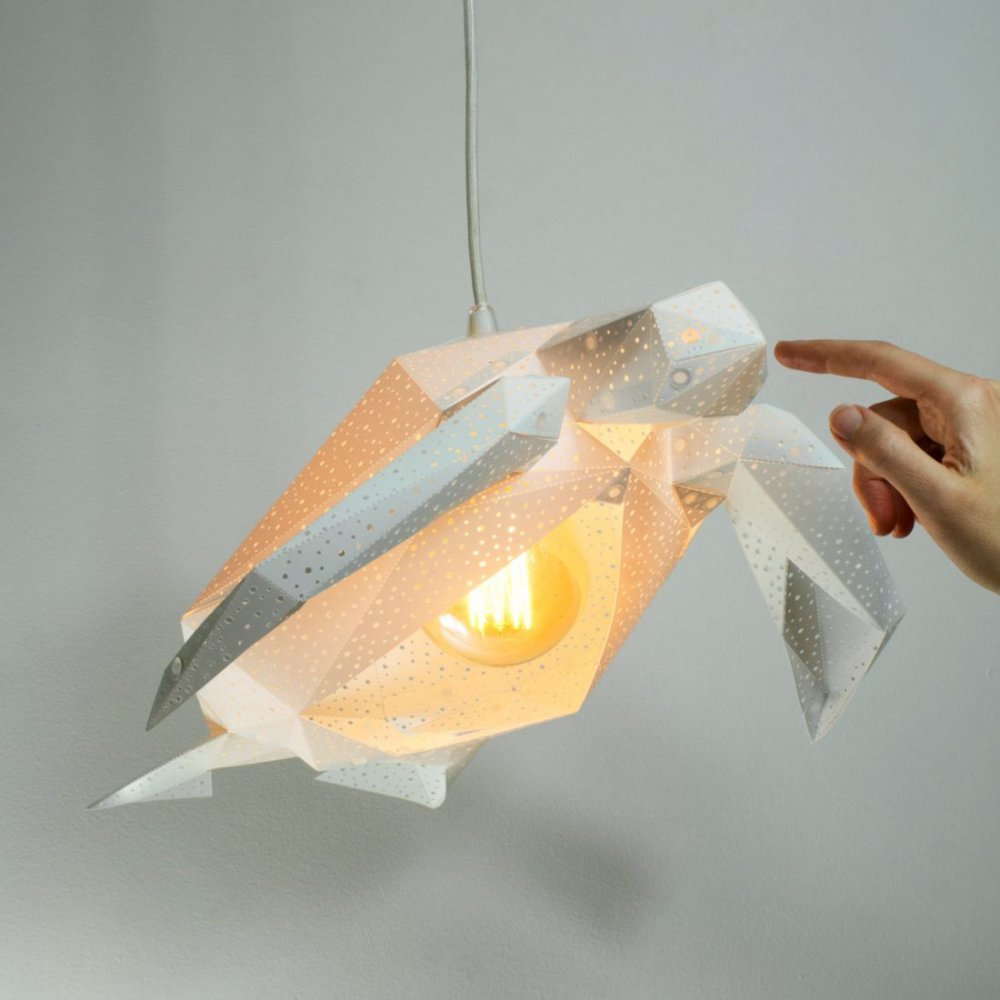 Stunning Pendant Lamps Inspired By Origami And Marine Animals By Vasililights 4