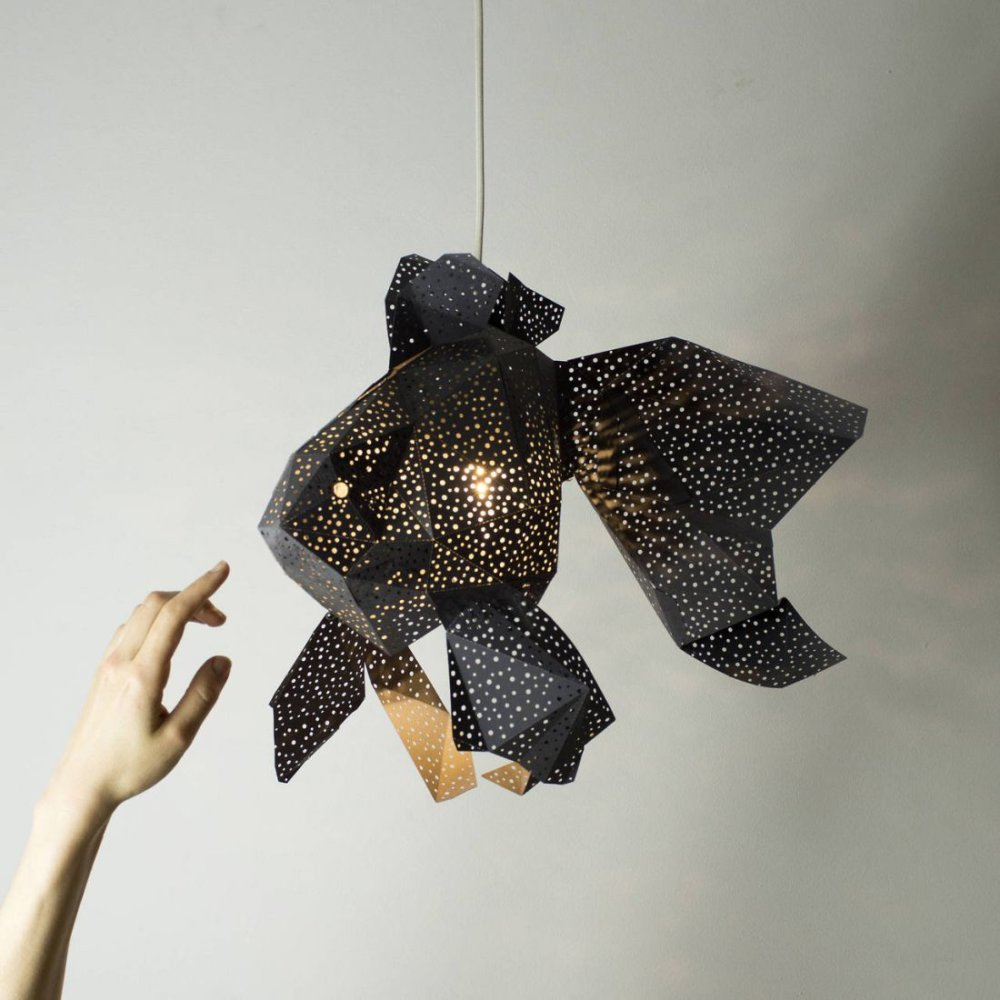 Stunning Pendant Lamps Inspired By Origami And Marine Animals By Vasililights 9