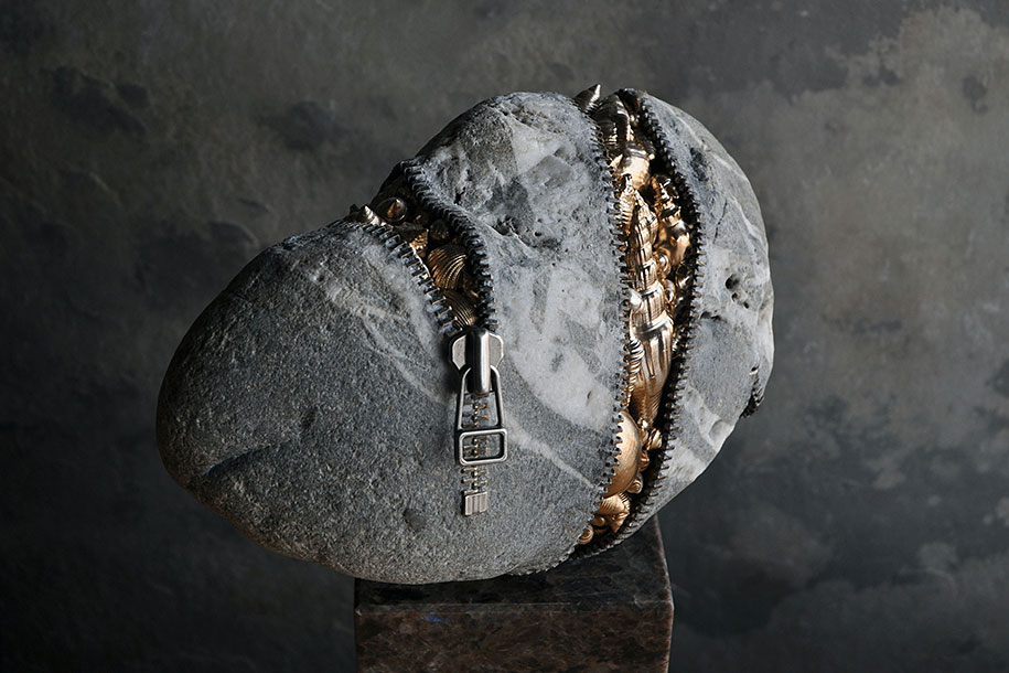 Surprising Intriguing And Funny Stone Sculptures By Hirotoshi Ito 10