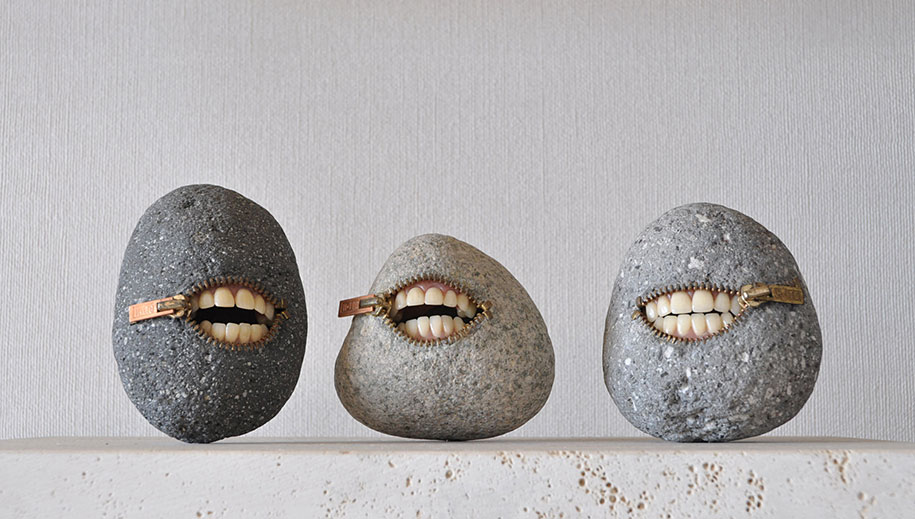 Surprising Intriguing And Funny Stone Sculptures By Hirotoshi Ito 3