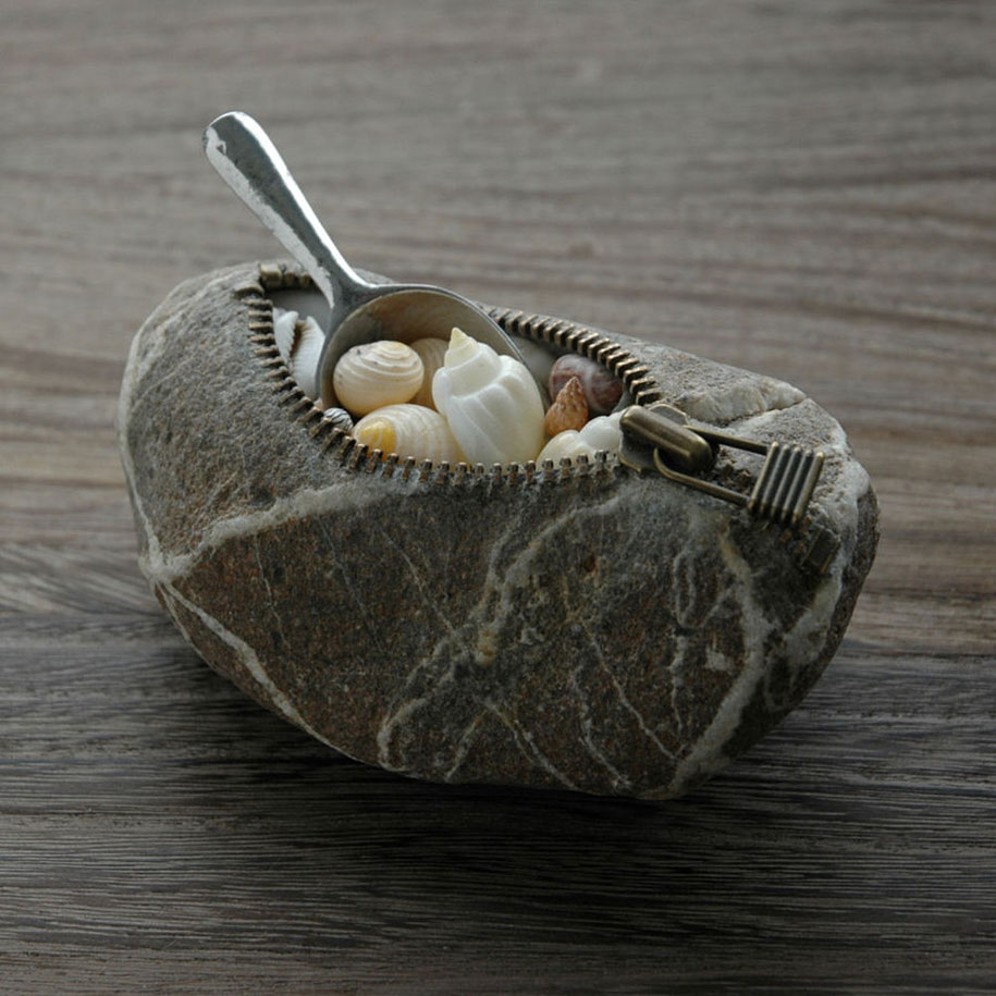 Surprising Intriguing And Funny Stone Sculptures By Hirotoshi Ito 4