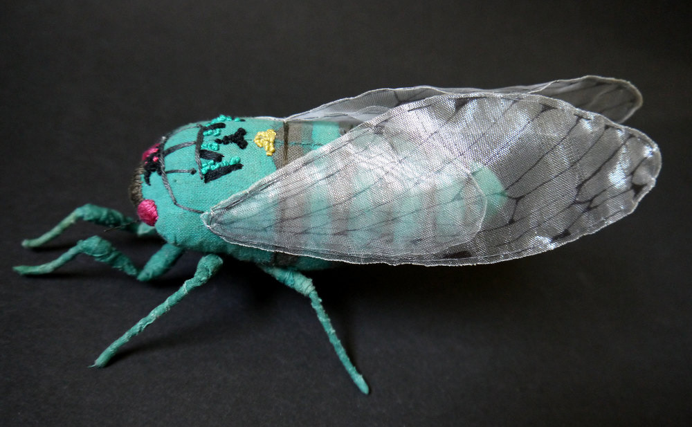 Textile Sculptures Of Moths Butterflies And Other Insects Made With Fabric And Embroidery By Yumi Okita 10