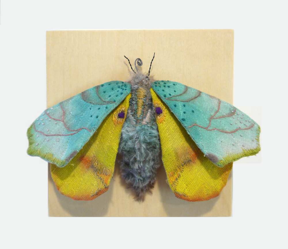 Textile Sculptures Of Moths Butterflies And Other Insects Made With Fabric And Embroidery By Yumi Okita 31