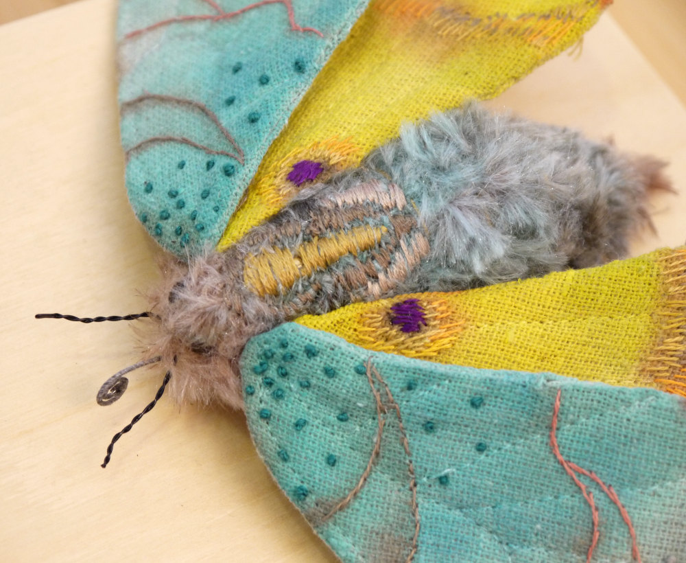 Textile Sculptures Of Moths Butterflies And Other Insects Made With Fabric And Embroidery By Yumi Okita 32