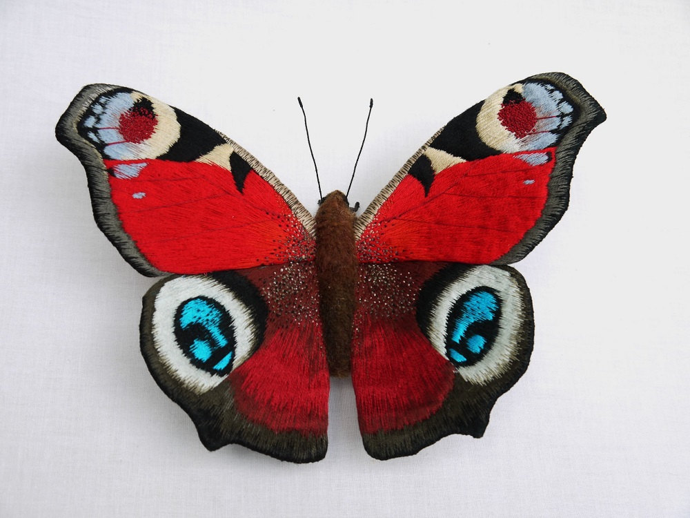 Textile Sculptures Of Moths Butterflies And Other Insects Made With Fabric And Embroidery By Yumi Okita 35