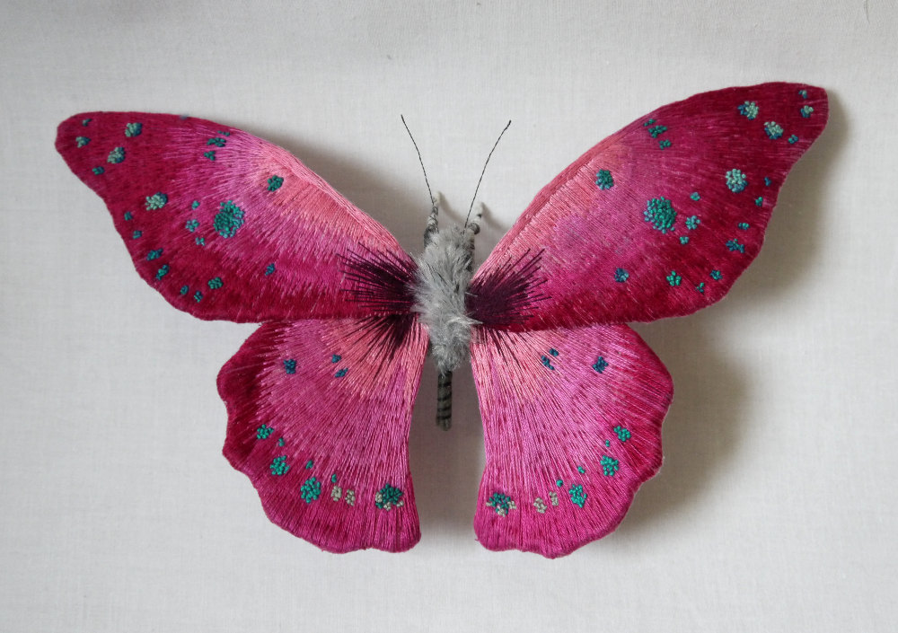 Textile Sculptures Of Moths Butterflies And Other Insects Made With Fabric And Embroidery By Yumi Okita 44