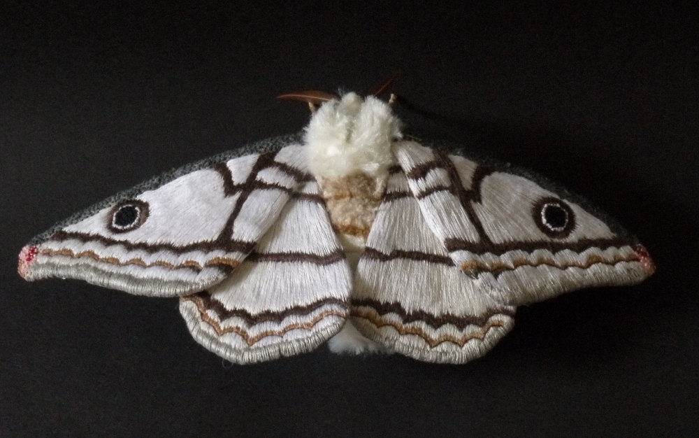 Textile Sculptures Of Moths Butterflies And Other Insects Made With Fabric And Embroidery By Yumi Okita 6