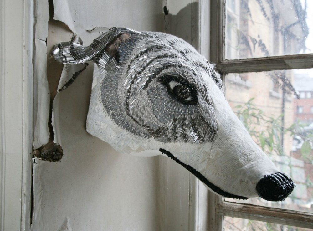 Textile Taxidermy Sculptures Of Animals Made With Antique Fabrics By Donya Coward 1