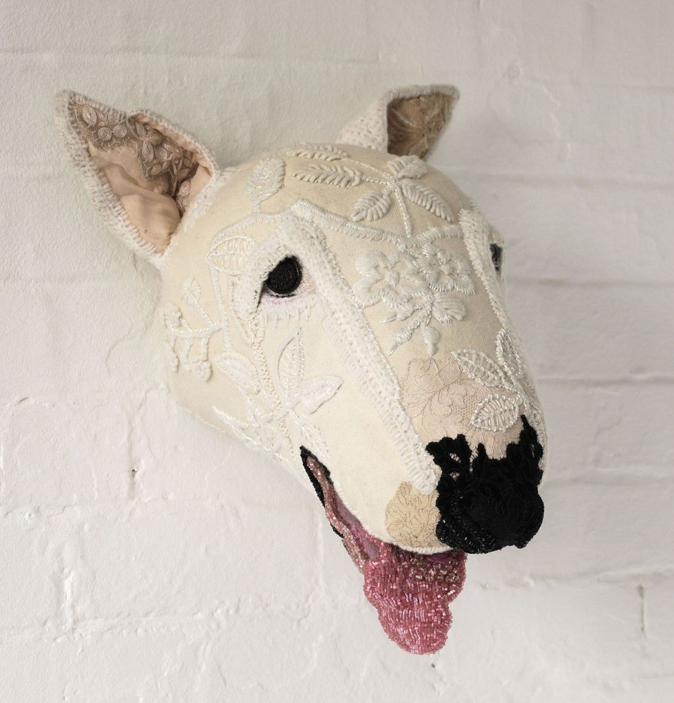 Textile Taxidermy Sculptures Of Animals Made With Antique Fabrics By Donya Coward 2