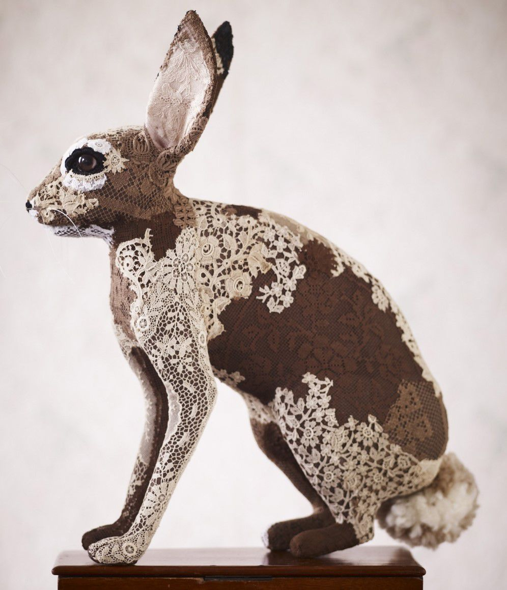 Textile Taxidermy Sculptures Of Animals Made With Antique Fabrics By Donya Coward 8