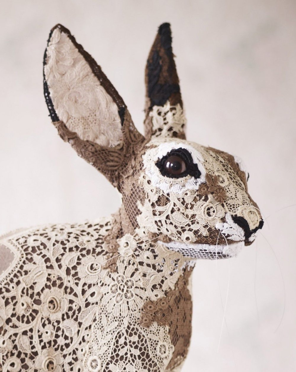 Textile Taxidermy Sculptures Of Animals Made With Antique Fabrics By Donya Coward 9