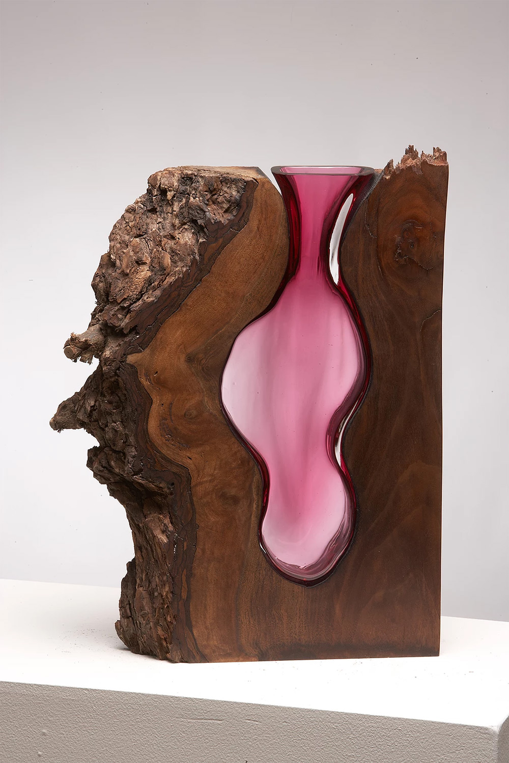 Wood Glass Glass Vases Shaped Into Wooden Enclosures By Scott Slagerman 1