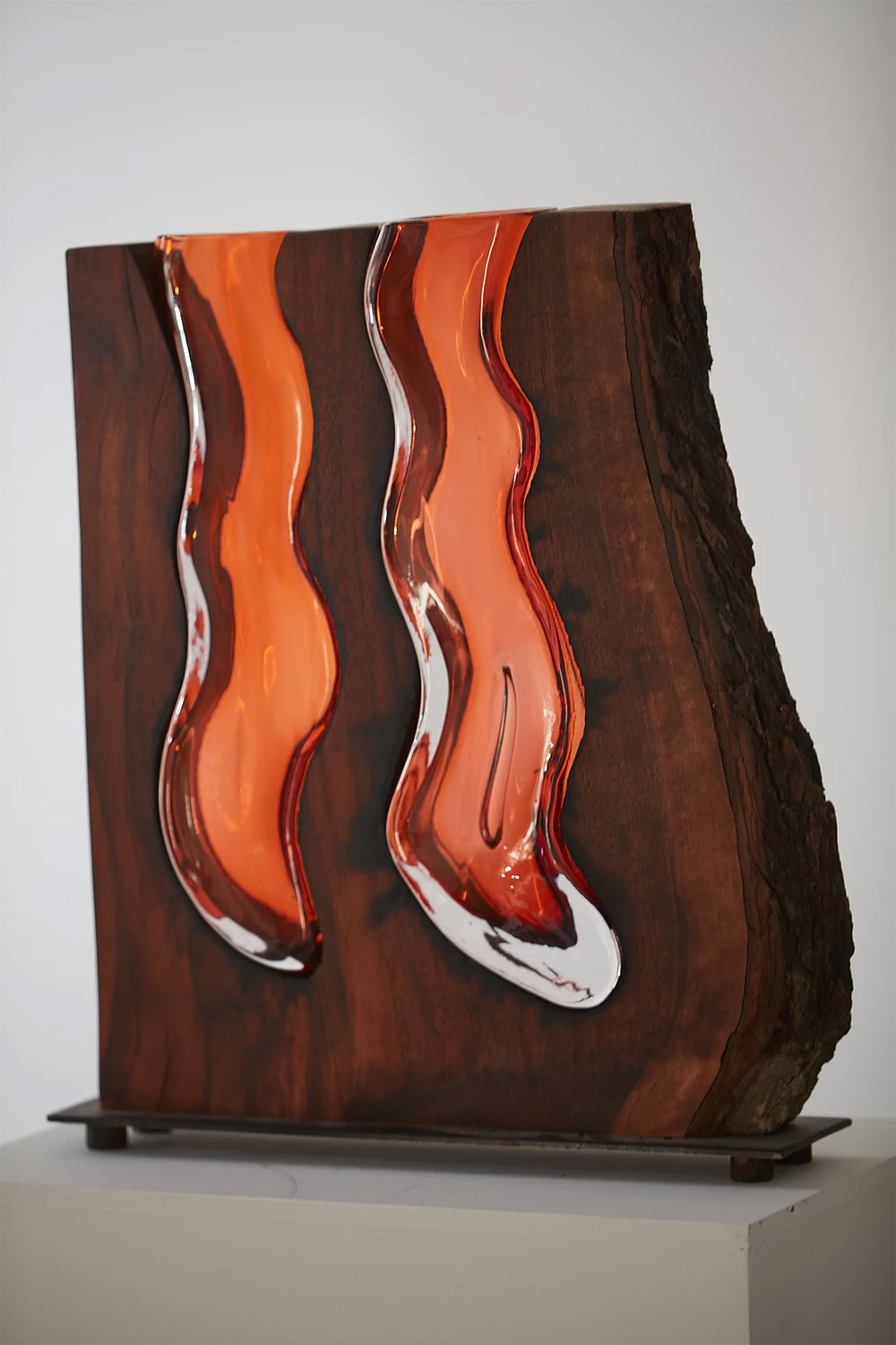 Wood Glass Glass Vases Shaped Into Wooden Enclosures By Scott Slagerman 5