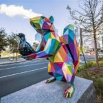 """Air, Sea and Land"": an urban intervention with colorful low poly sculptures by Okuda San Miguel"