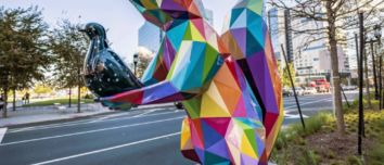 """""""Air, Sea and Land"""": an urban intervention with colorful low poly sculptures by Okuda San Miguel"""