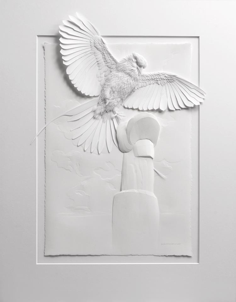 Amazingly Intricate Paper Sculptures Of Animals And Natural Landscapes By Calvin Nicholls 1