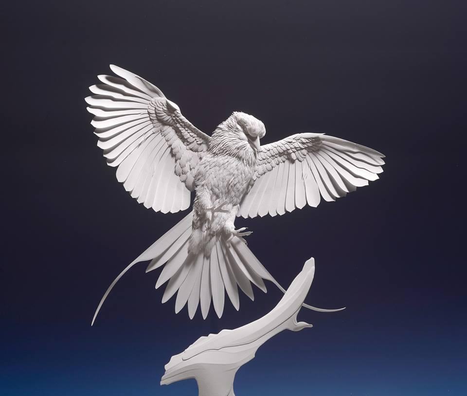 Amazingly Intricate Paper Sculptures Of Animals And Natural Landscapes By Calvin Nicholls 7