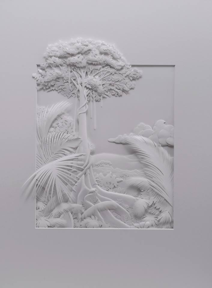 Amazingly Intricate Paper Sculptures Of Animals And Natural Landscapes By Calvin Nicholls 8
