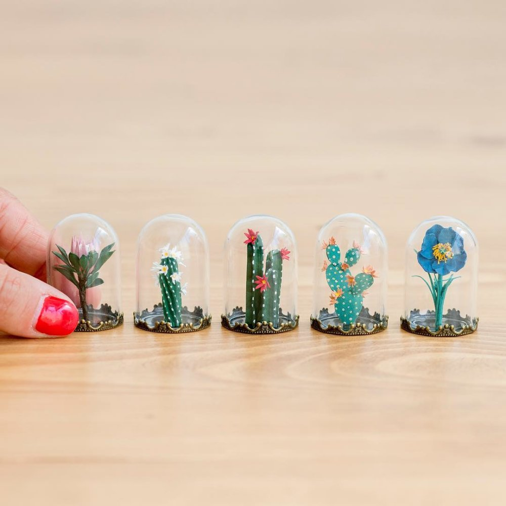 Cute Paper Plants In Miniature By Raya Sader Bujana 3