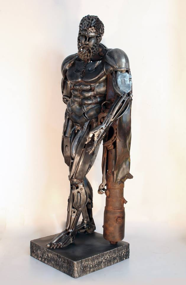Formidable Scrap Metal Sculptures By Patrick Alo 1