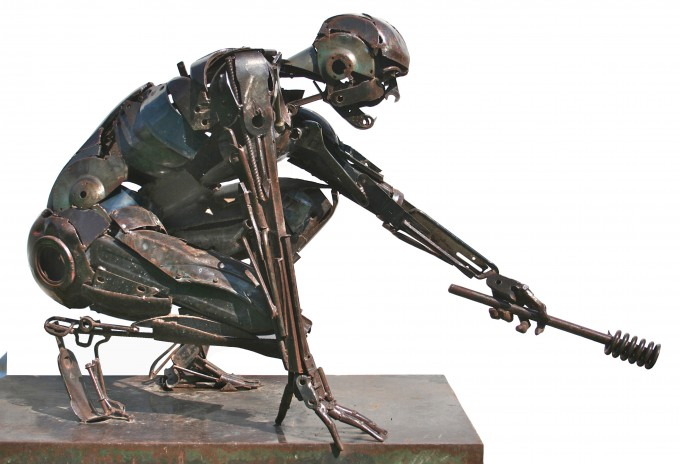 Formidable Scrap Metal Sculptures By Patrick Alo 9