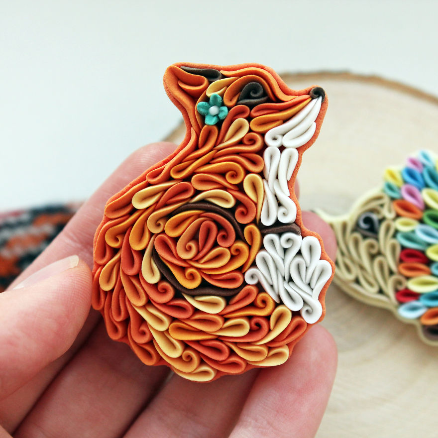 Gorgeous Animal Polymer Clay Jewelry Of With Colorful Patterns By Alisa Laryushkina 1