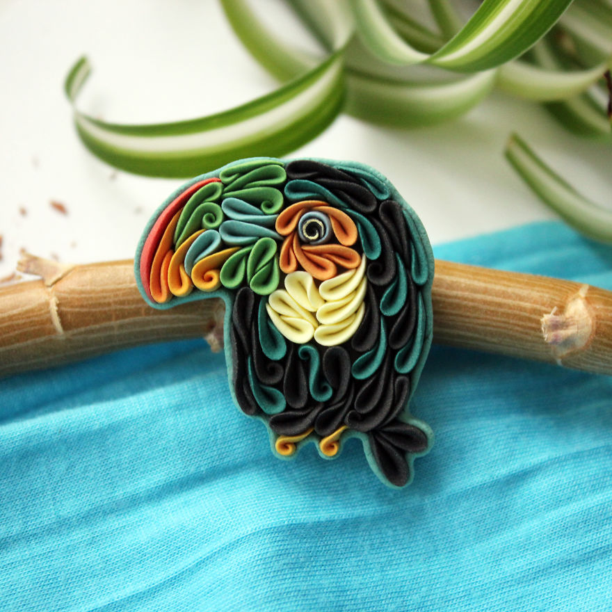 Gorgeous Animal Polymer Clay Jewelry Of With Colorful Patterns By Alisa Laryushkina 10