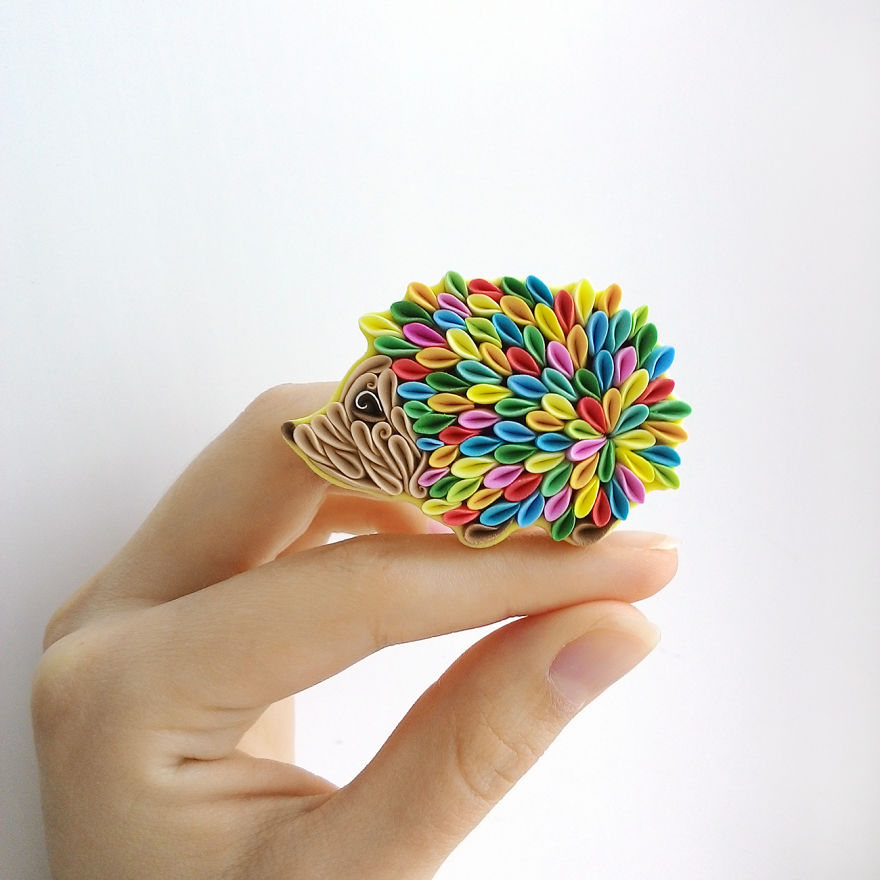 Gorgeous Animal Polymer Clay Jewelry Of With Colorful Patterns By Alisa Laryushkina 2
