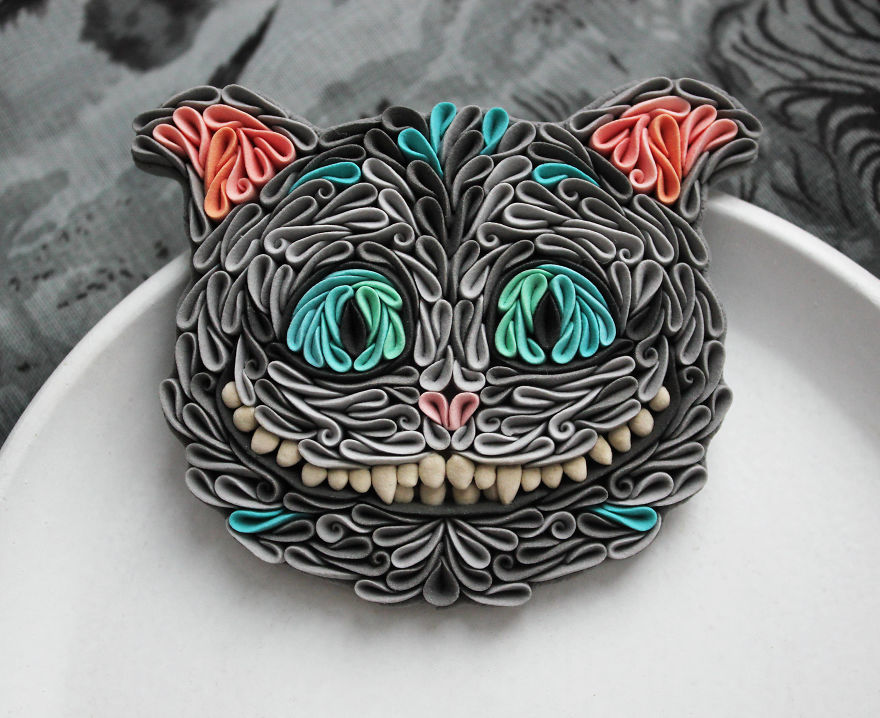 Gorgeous Animal Polymer Clay Jewelry Of With Colorful Patterns By Alisa Laryushkina 6