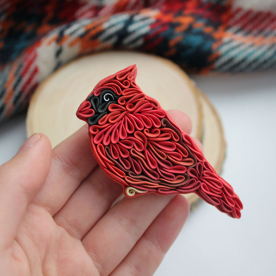 Gorgeous Animal Polymer Clay Jewelry Of With Colorful Patterns By Alisa Laryushkina 8
