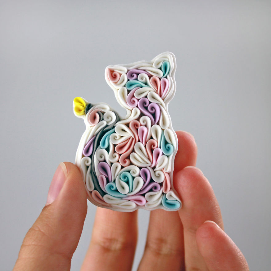Gorgeous Animal Polymer Clay Jewelry Of With Colorful Patterns By Alisa Laryushkina 9