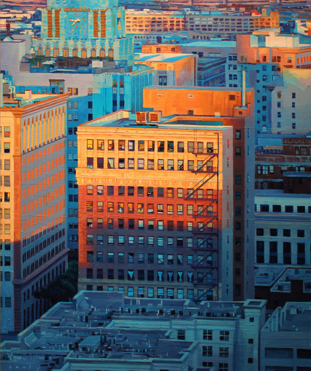 Lush Hyper Realistic Urban Landscape Paintings By Seth Armstrong 11