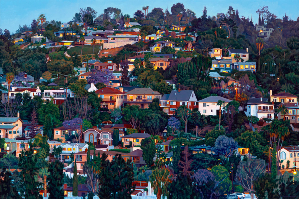 Lush hyper-realistic urban landscape paintings by Seth Armstrong