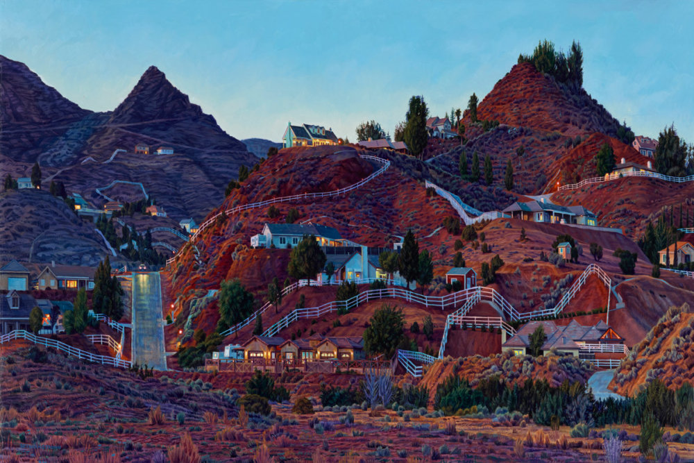 Lush Hyper Realistic Urban Landscape Paintings By Seth Armstrong 5